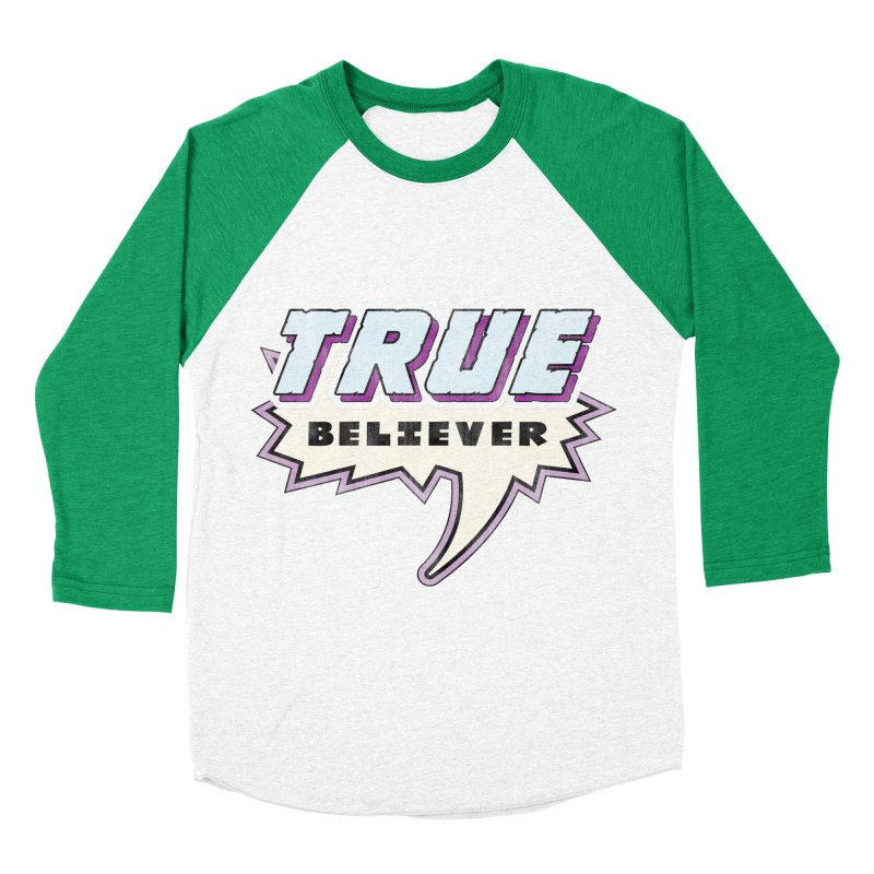 True Believer - Panther Flavor Men's Baseball Triblend T-Shirt by Gamma Bomb - A Celebration of Imagination
