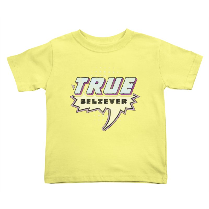 True Believer - Panther Flavor Kids Toddler T-Shirt by Gamma Bomb - A Celebration of Imagination