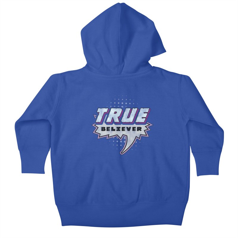 True Believer - Panther Flavor Kids Baby Zip-Up Hoody by Gamma Bomb - A Celebration of Imagination