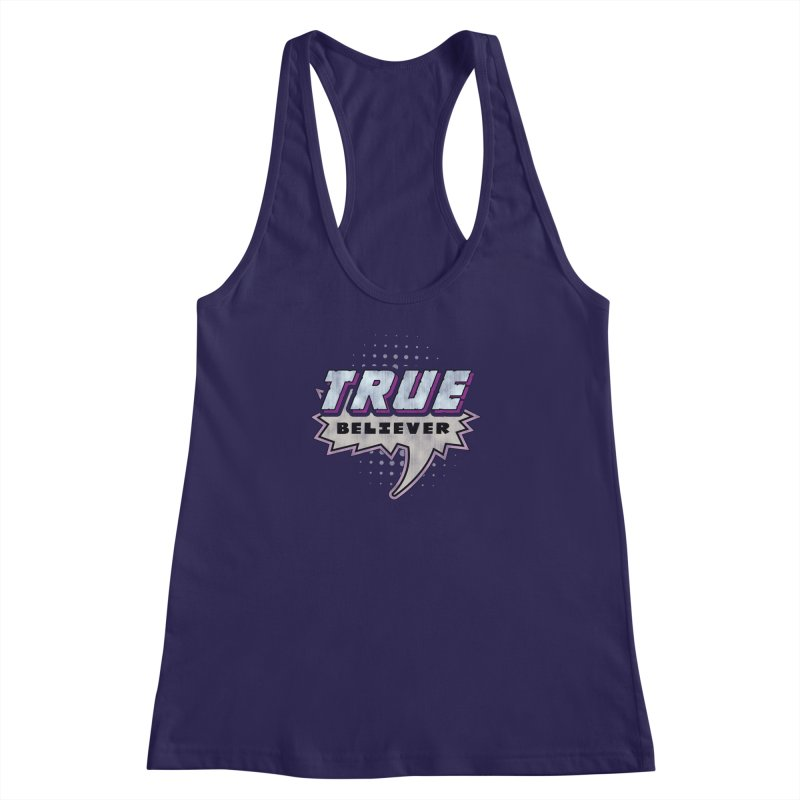 True Believer - Panther Flavor Women's Racerback Tank by Gamma Bomb - A Celebration of Imagination