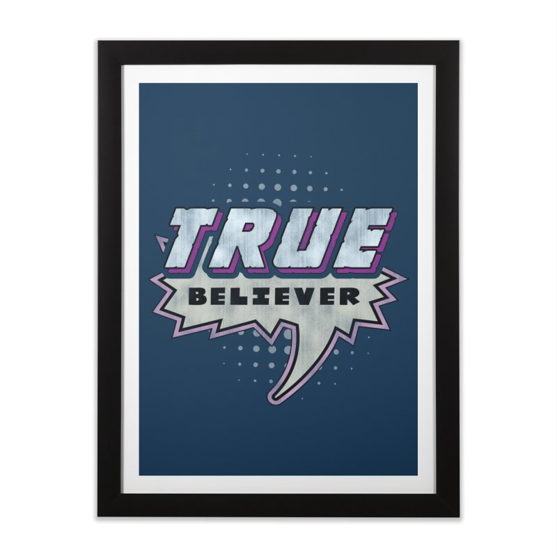 True Believer - Panther Flavor Home Framed Fine Art Print by Gamma Bomb - A Celebration of Imagination