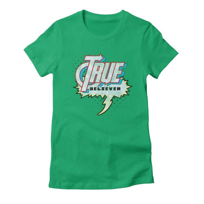 True Believer - Avenged Flavor Women's Fitted T-Shirt by Gamma Bomb - A Celebration of Imagination