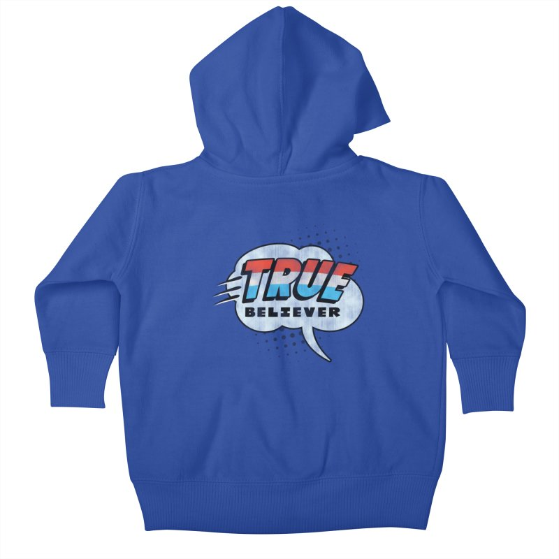 True Believer - Merica Flavor Kids Baby Zip-Up Hoody by Gamma Bomb - A Celebration of Imagination