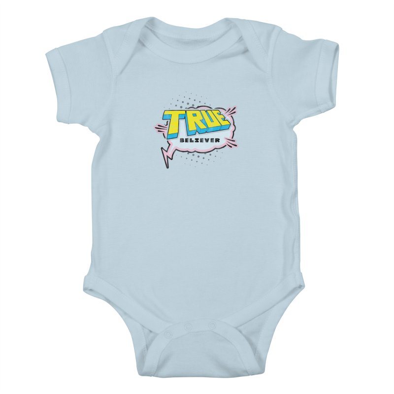 True Believer - Uncanny Flavor Kids Baby Bodysuit by Gamma Bomb - A Celebration of Imagination