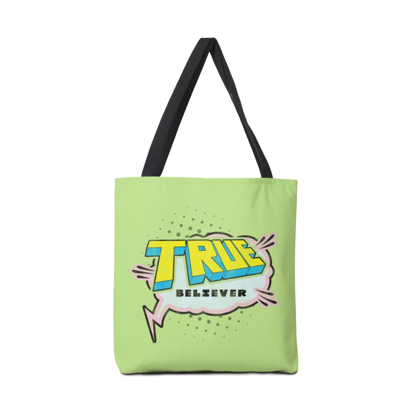True Believer - Uncanny Flavor Accessories Tote Bag Bag by Gamma Bomb - Explosively Mutating Your Look