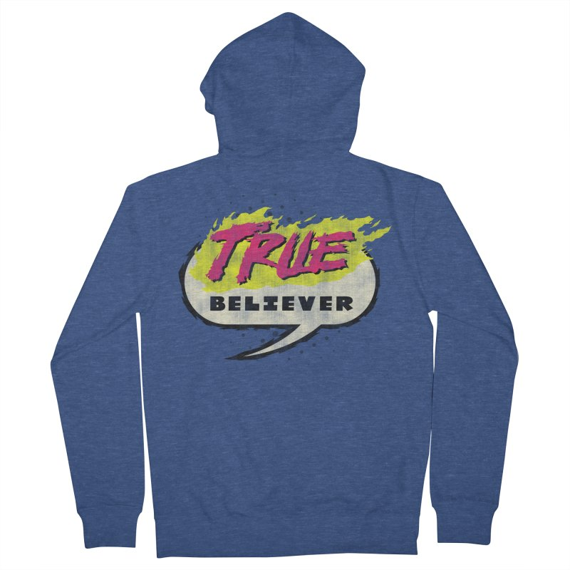 True Believer - Vengeance Flavor Men's French Terry Zip-Up Hoody by Gamma Bomb - A Celebration of Imagination