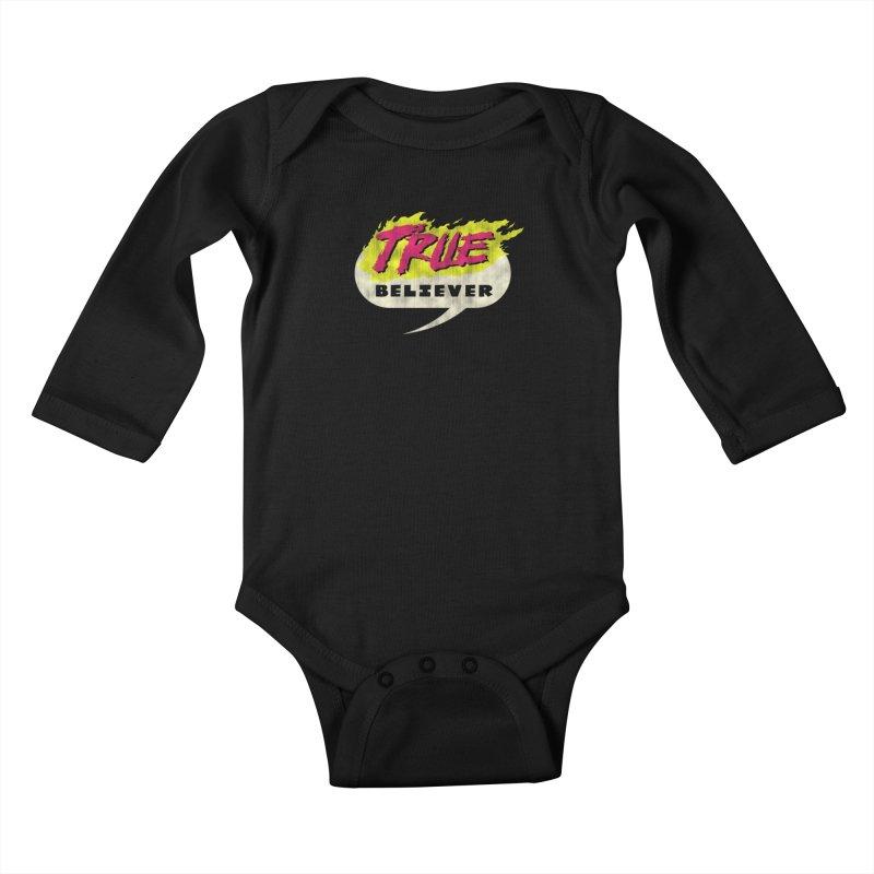 True Believer - Vengeance Flavor Kids Baby Longsleeve Bodysuit by Gamma Bomb - A Celebration of Imagination