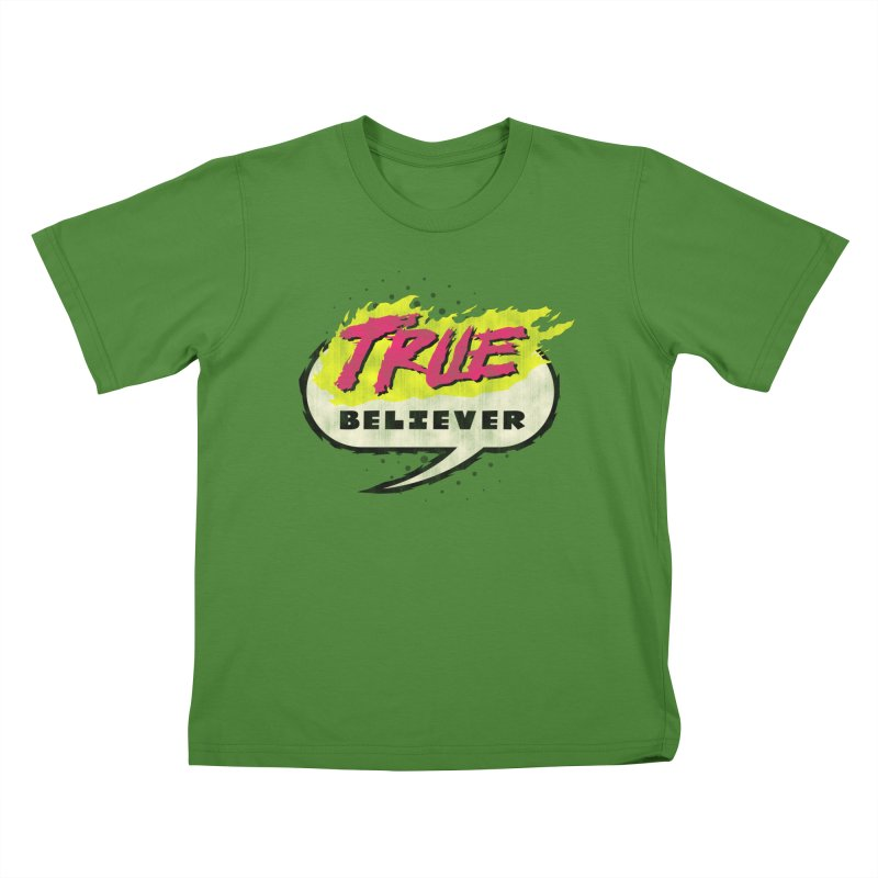 True Believer - Vengeance Flavor Kids T-Shirt by Gamma Bomb - A Celebration of Imagination