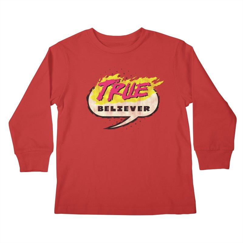 True Believer - Vengeance Flavor Kids Longsleeve T-Shirt by Gamma Bomb - A Celebration of Imagination