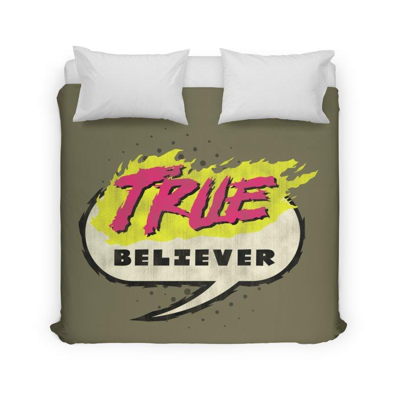 True Believer - Vengeance Flavor Home Duvet by Gamma Bomb - A Celebration of Imagination