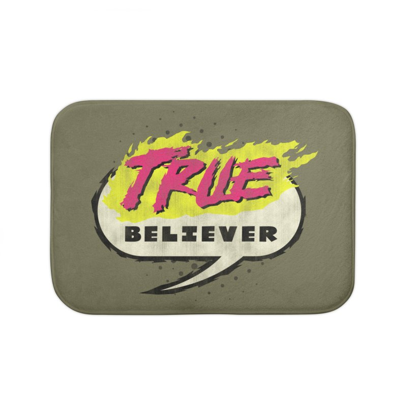 True Believer - Vengeance Flavor Home Bath Mat by Gamma Bomb - A Celebration of Imagination