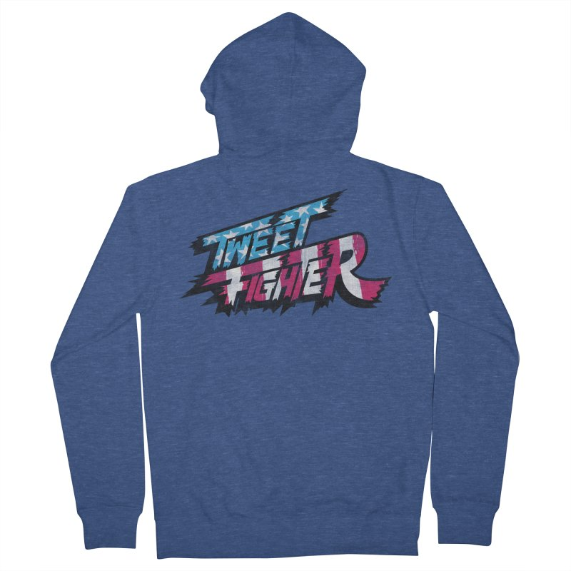 Tweet Fighter - Freedom Flavor Women's French Terry Zip-Up Hoody by Gamma Bomb - A Celebration of Imagination