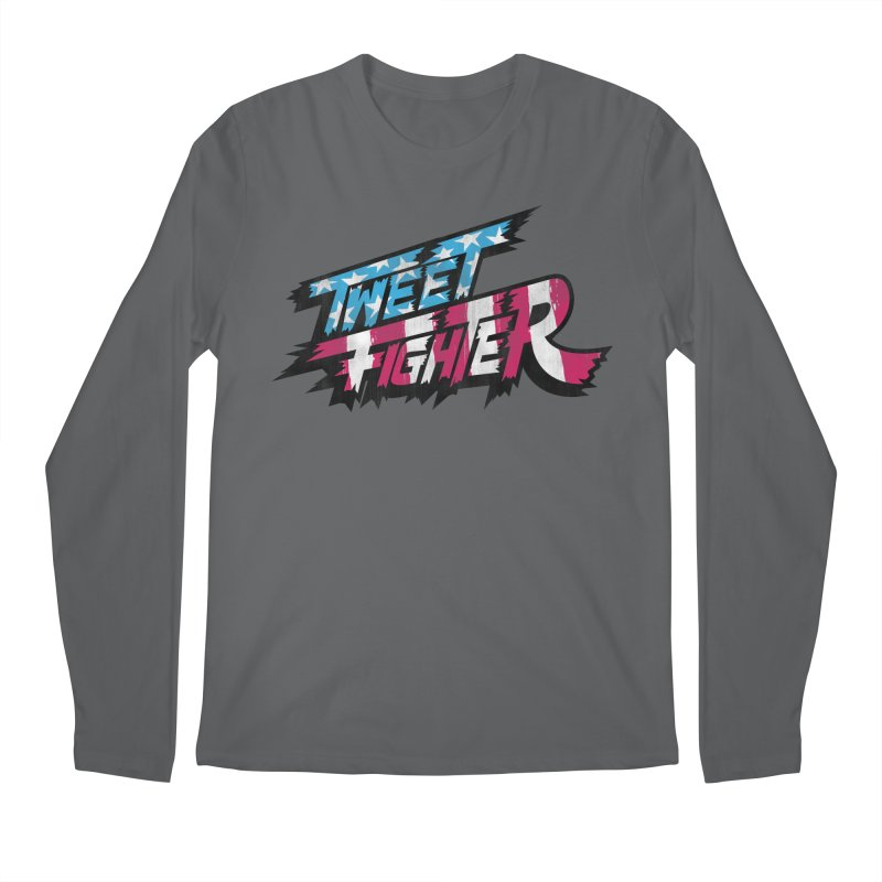 Tweet Fighter - Freedom Flavor Men's Regular Longsleeve T-Shirt by Gamma Bomb - A Celebration of Imagination