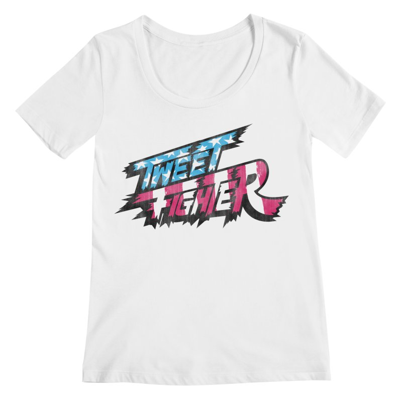 Tweet Fighter - Freedom Flavor Women's Regular Scoop Neck by Gamma Bomb - Explosively Mutating Your Look