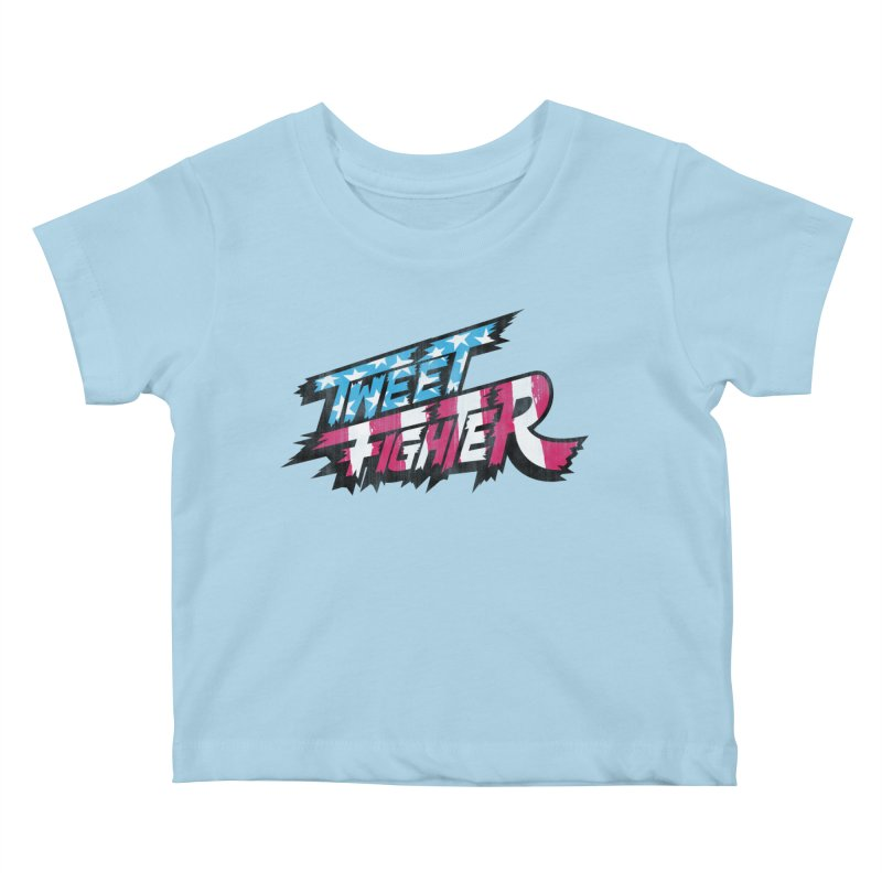 Tweet Fighter - Freedom Flavor Kids Baby T-Shirt by Gamma Bomb - A Celebration of Imagination