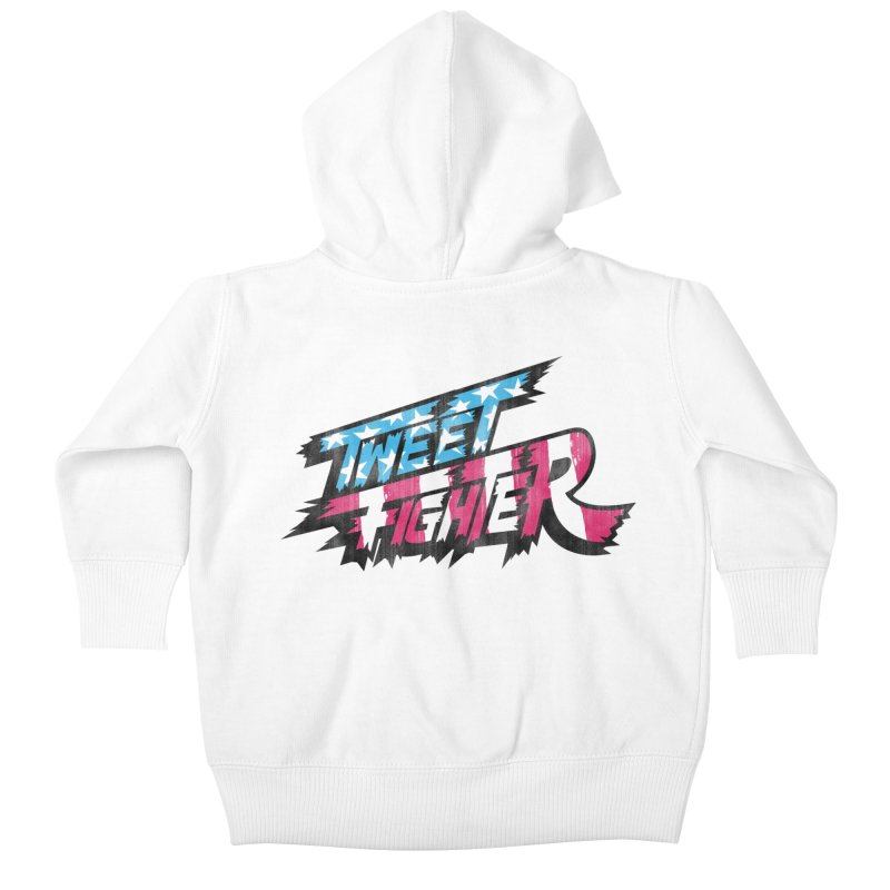 Tweet Fighter - Freedom Flavor Kids Baby Zip-Up Hoody by Gamma Bomb - A Celebration of Imagination