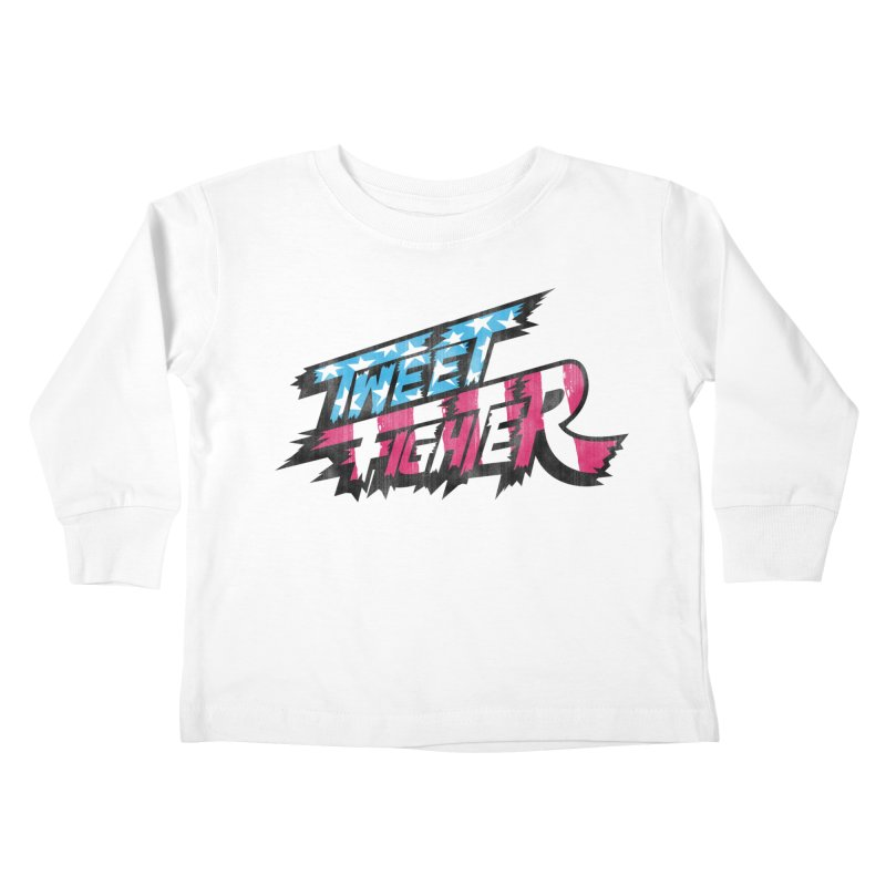 Tweet Fighter - Freedom Flavor Kids Toddler Longsleeve T-Shirt by Gamma Bomb - A Celebration of Imagination