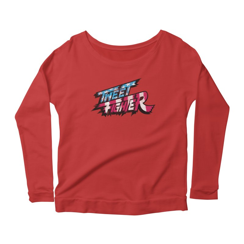Tweet Fighter - Freedom Flavor Women's Scoop Neck Longsleeve T-Shirt by Gamma Bomb - A Celebration of Imagination