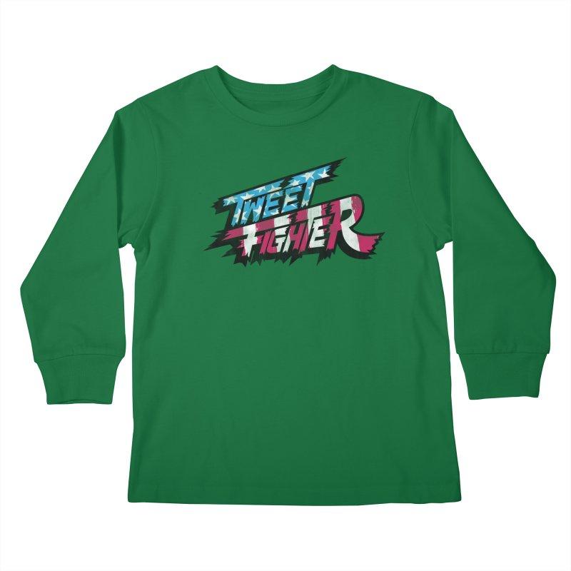 Tweet Fighter - Freedom Flavor Kids Longsleeve T-Shirt by Gamma Bomb - A Celebration of Imagination