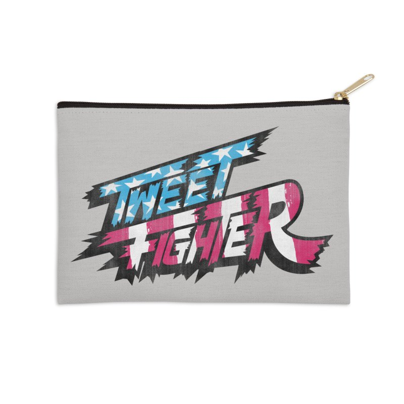 Tweet Fighter - Freedom Flavor Accessories Zip Pouch by Gamma Bomb - A Celebration of Imagination