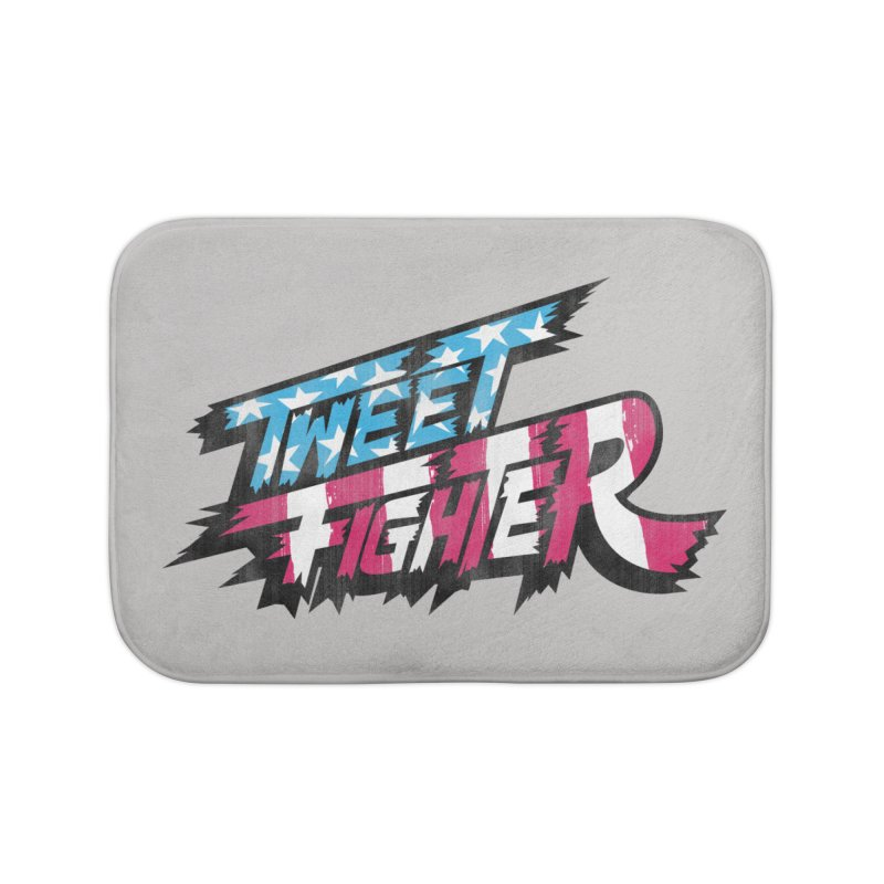 Tweet Fighter - Freedom Flavor Home Bath Mat by Gamma Bomb - A Celebration of Imagination