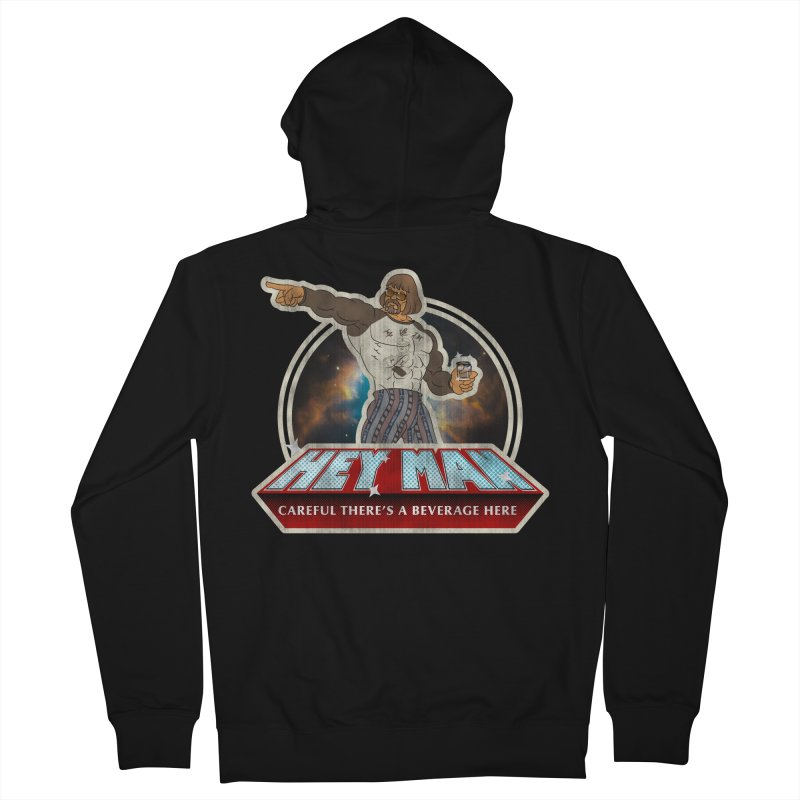 Hey Man Women's French Terry Zip-Up Hoody by Gamma Bomb - A Celebration of Imagination