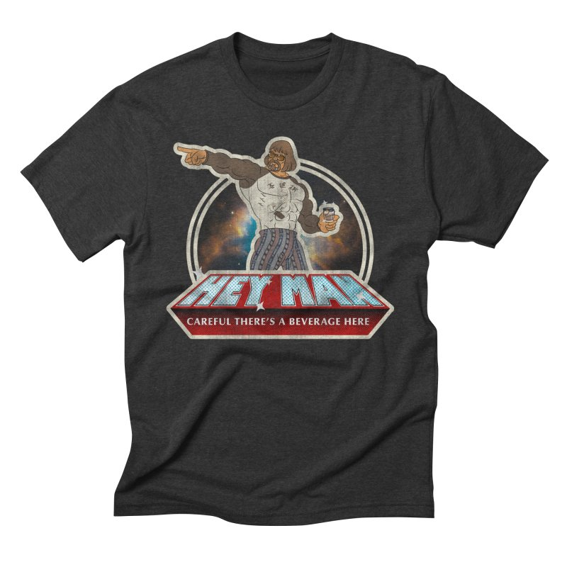 Hey Man Men's Triblend T-Shirt by Gamma Bomb - A Celebration of Imagination