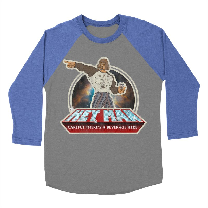 Hey Man Women's Baseball Triblend Longsleeve T-Shirt by Gamma Bomb - A Celebration of Imagination