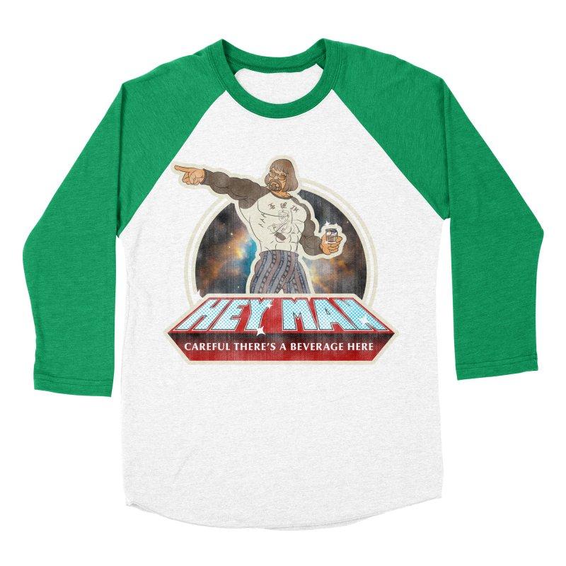 Hey Man Men's Baseball Triblend Longsleeve T-Shirt by Gamma Bomb - A Celebration of Imagination