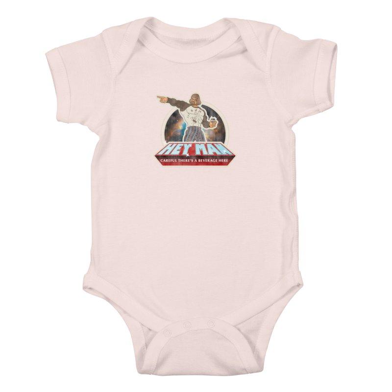 Hey Man Kids Baby Bodysuit by Gamma Bomb - A Celebration of Imagination