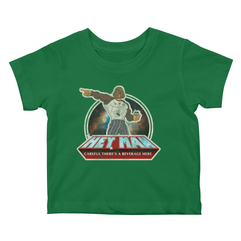Hey Man Kids Baby T-Shirt by Gamma Bomb - A Celebration of Imagination