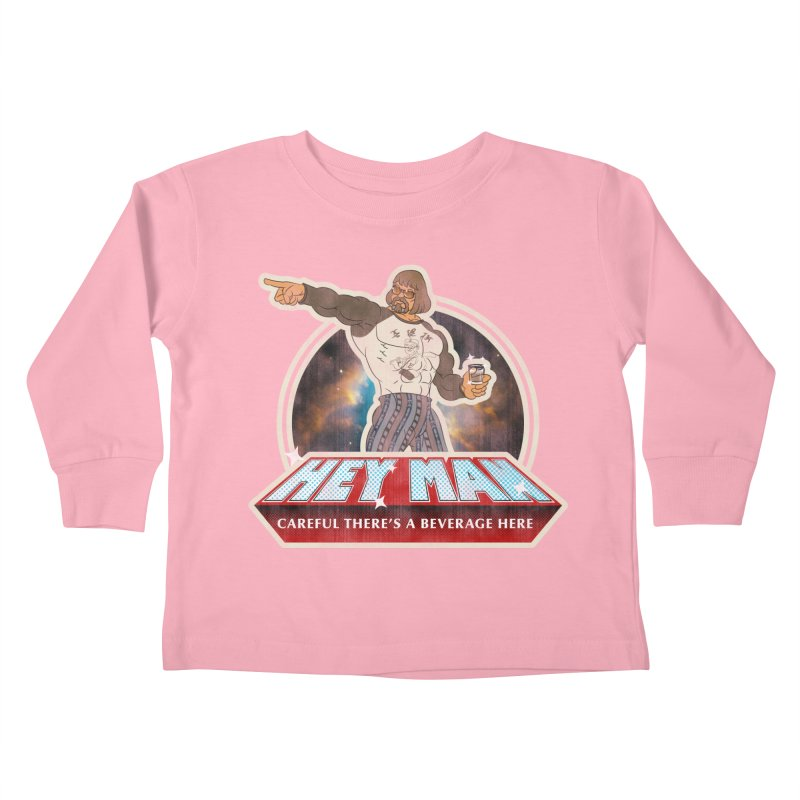 Hey Man Kids Toddler Longsleeve T-Shirt by Gamma Bomb - A Celebration of Imagination
