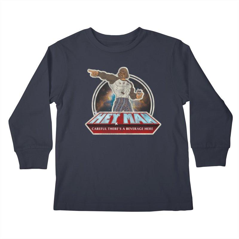 Hey Man Kids Longsleeve T-Shirt by Gamma Bomb - A Celebration of Imagination