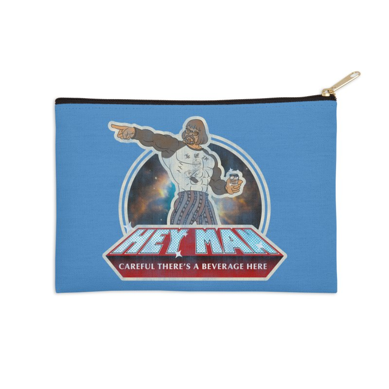 Hey Man Accessories Zip Pouch by Gamma Bomb - A Celebration of Imagination