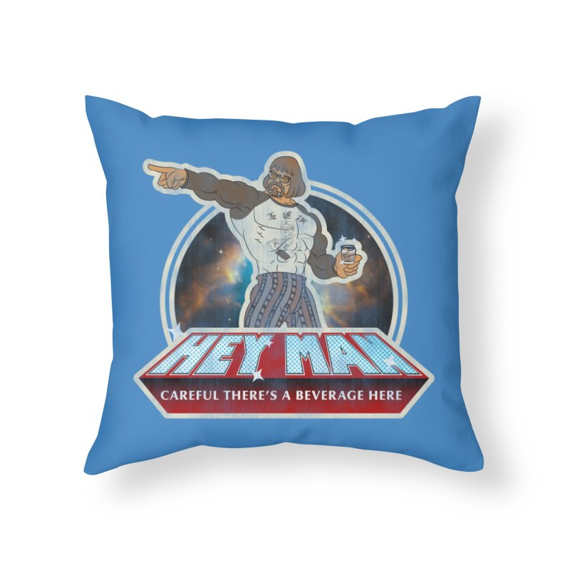 Hey Man Home Throw Pillow by Gamma Bomb - A Celebration of Imagination