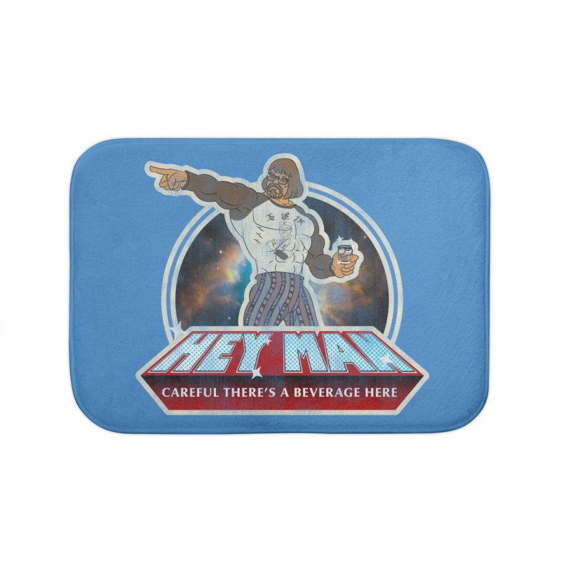 Hey Man Home Bath Mat by Gamma Bomb - A Celebration of Imagination
