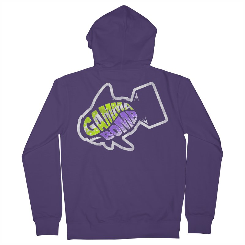 Gamma Bomb Logo Women's French Terry Zip-Up Hoody by Gamma Bomb - A Celebration of Imagination