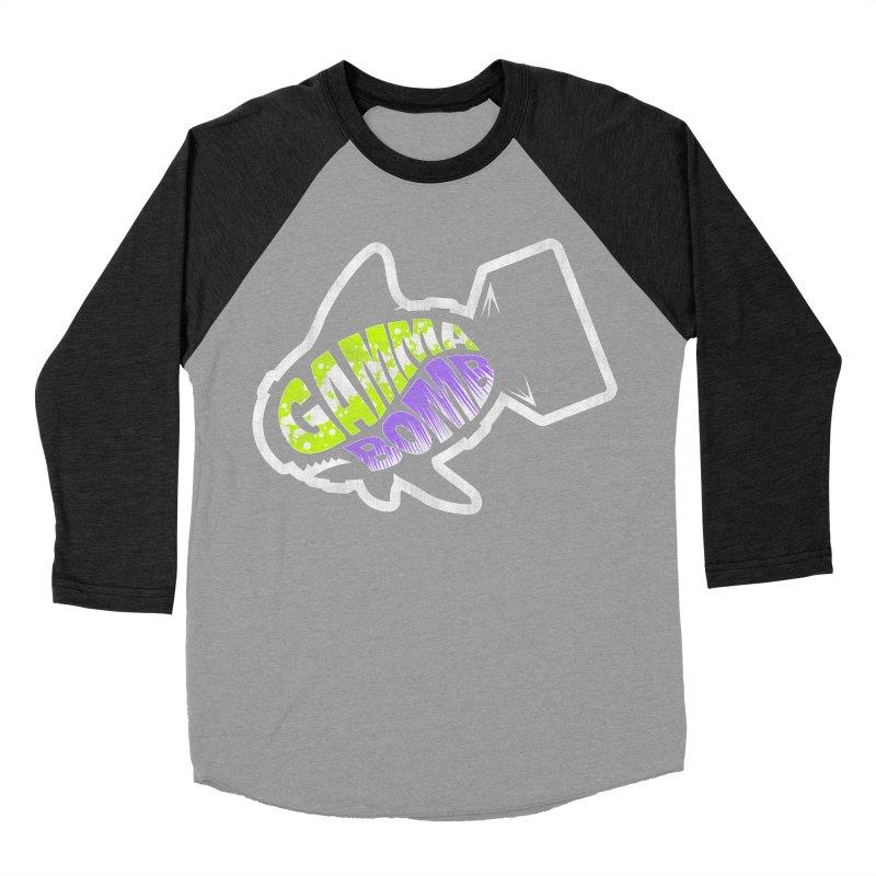 Gamma Bomb Logo Women's Baseball Triblend Longsleeve T-Shirt by Gamma Bomb - Explosively Mutating Your Look