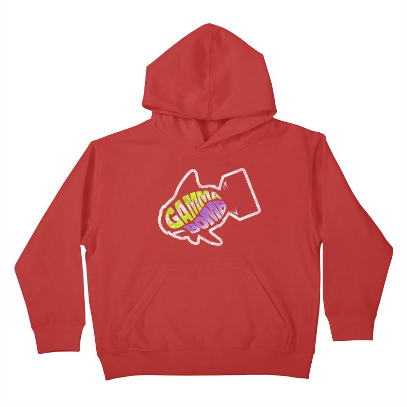 Gamma Bomb Logo Kids Pullover Hoody by Gamma Bomb - A Celebration of Imagination
