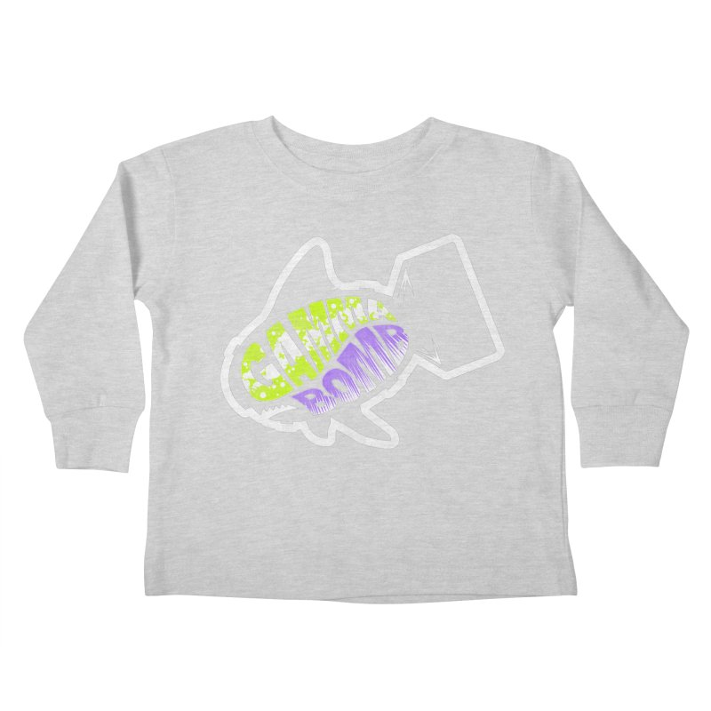 Gamma Bomb Logo Kids Toddler Longsleeve T-Shirt by Gamma Bomb - A Celebration of Imagination