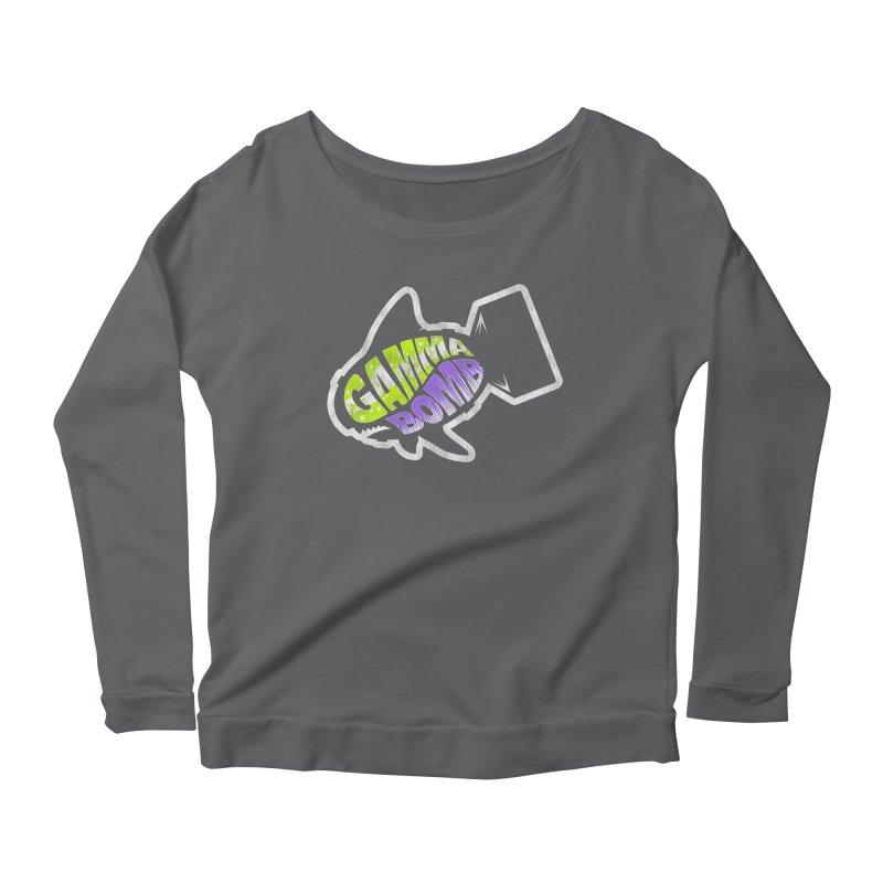 Gamma Bomb Logo Women's Scoop Neck Longsleeve T-Shirt by Gamma Bomb - A Celebration of Imagination
