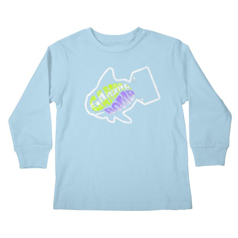 Gamma Bomb Logo Kids Longsleeve T-Shirt by Gamma Bomb - A Celebration of Imagination