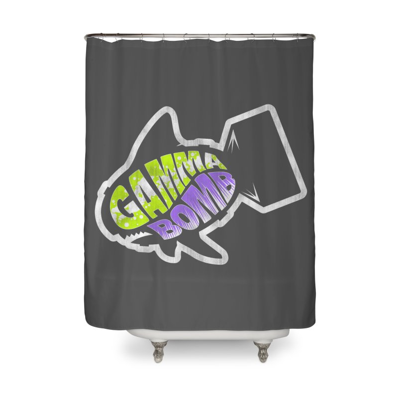 Gamma Bomb Logo Home Shower Curtain by Gamma Bomb - A Celebration of Imagination