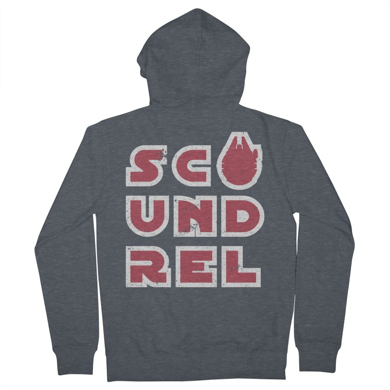 Scoundrel - Red Flavor Men's French Terry Zip-Up Hoody by Gamma Bomb - A Celebration of Imagination