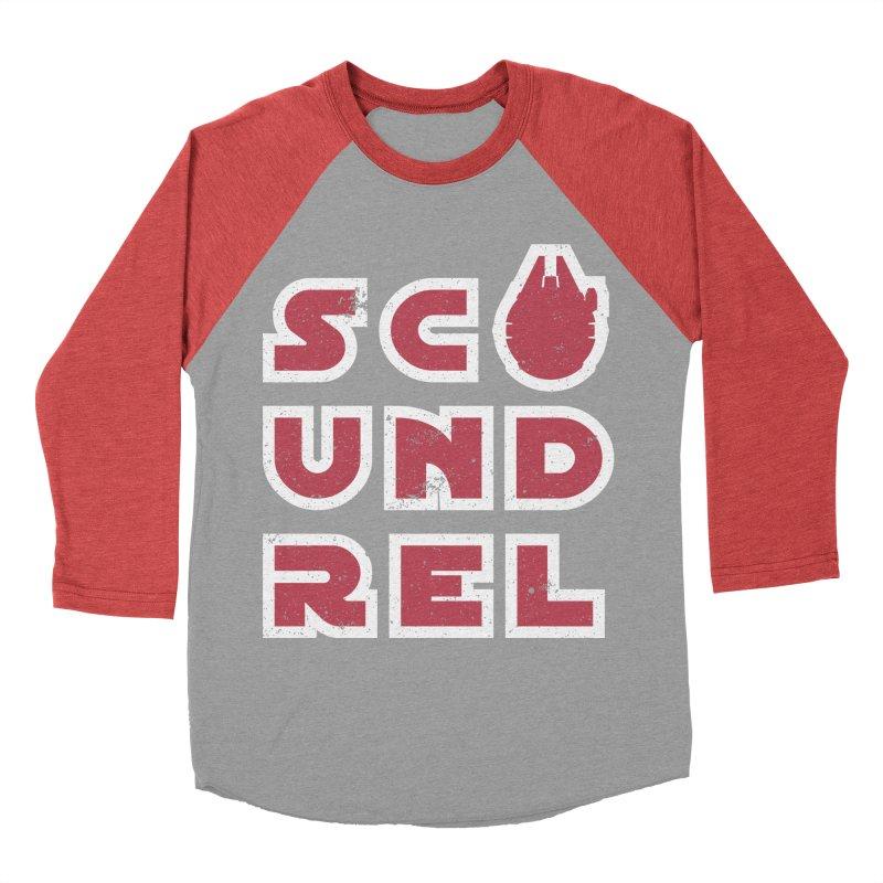 Scoundrel - Red Flavor Men's Baseball Triblend Longsleeve T-Shirt by Gamma Bomb - A Celebration of Imagination