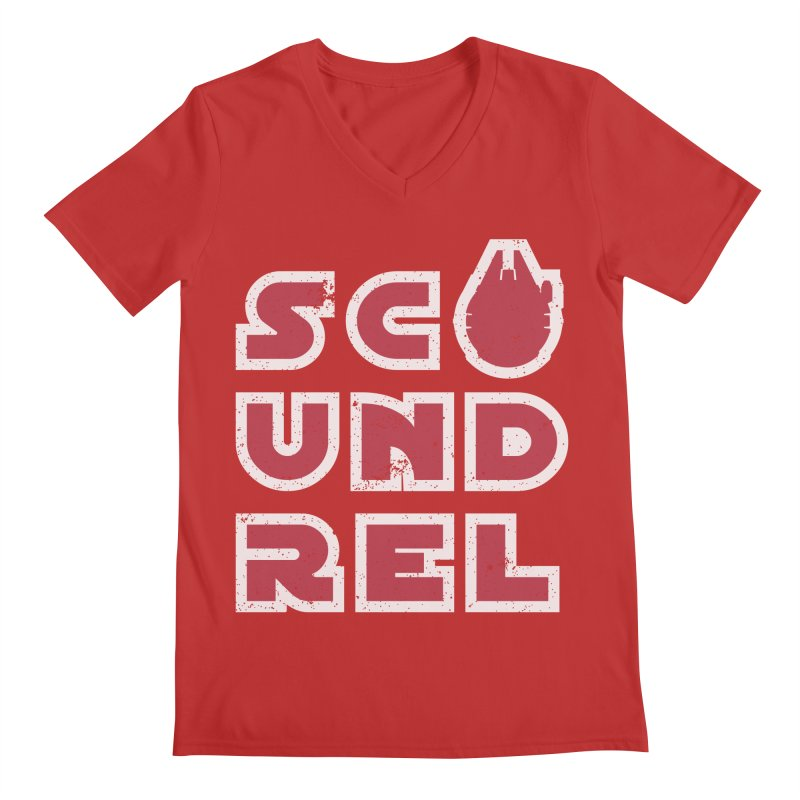 Scoundrel - Red Flavor Men's Regular V-Neck by Gamma Bomb - Explosively Mutating Your Look
