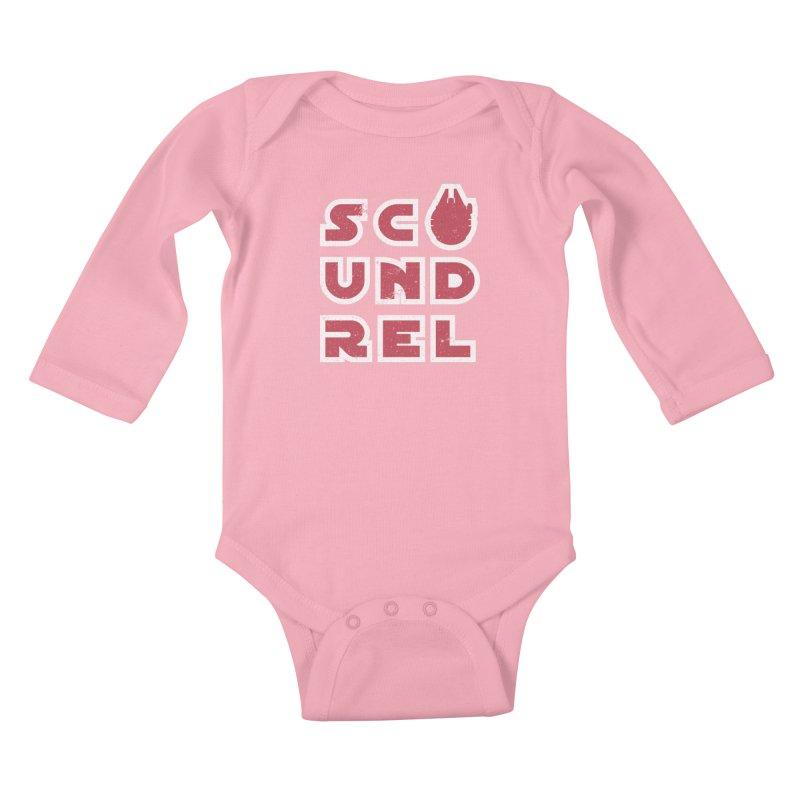 Scoundrel - Red Flavor Kids Baby Longsleeve Bodysuit by Gamma Bomb - A Celebration of Imagination
