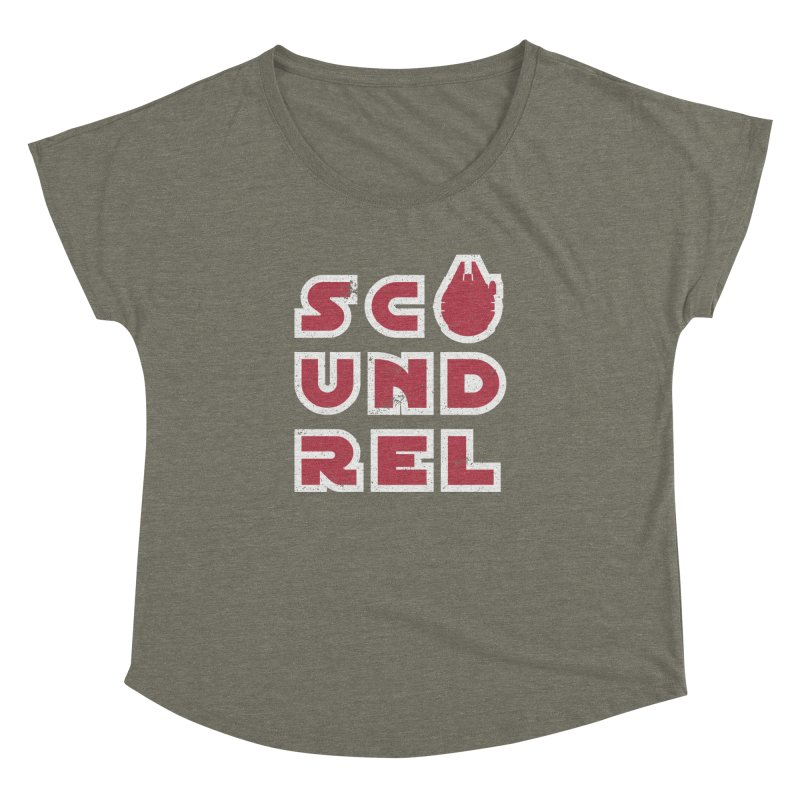 Scoundrel - Red Flavor Women's Dolman Scoop Neck by Gamma Bomb - A Celebration of Imagination