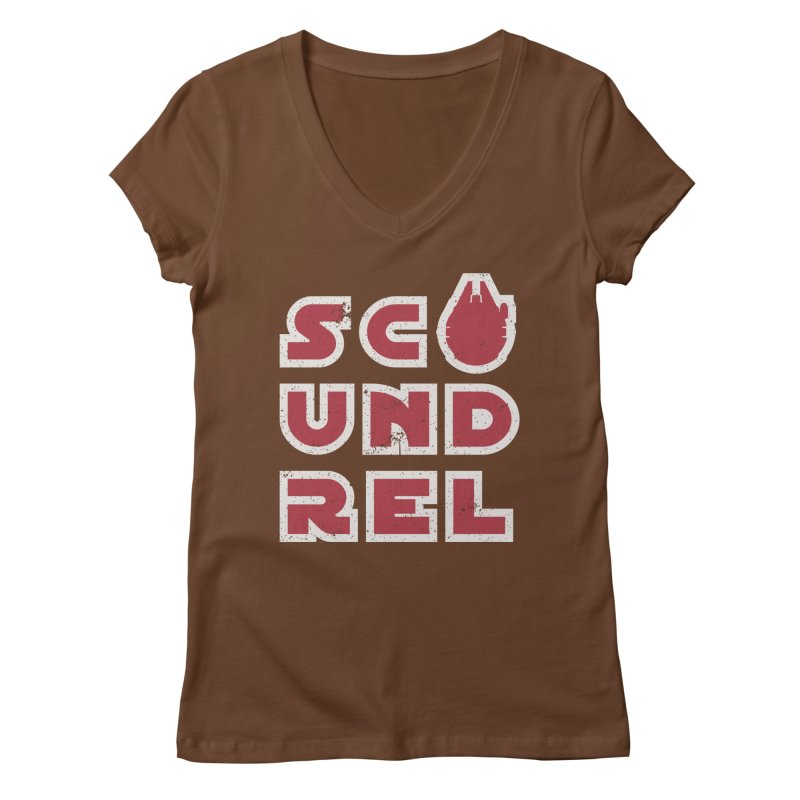 Scoundrel - Red Flavor Women's Regular V-Neck by Gamma Bomb - Explosively Mutating Your Look