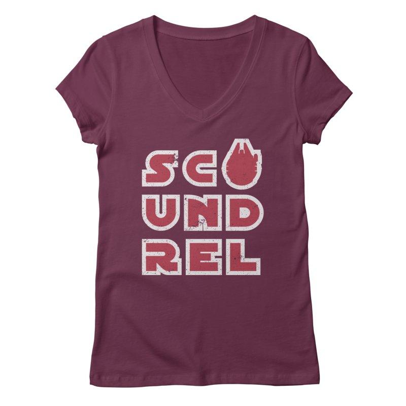 Scoundrel - Red Flavor Women's Regular V-Neck by Gamma Bomb - A Celebration of Imagination